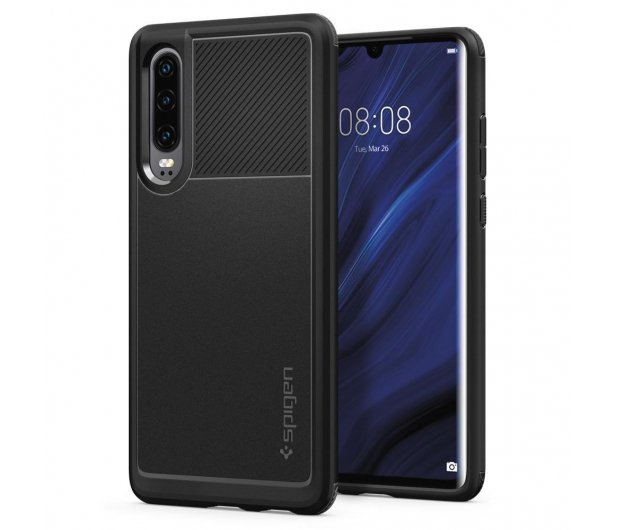 Spigen Rugged Armor do Huawei P30 Black  - 489430 - zdjęcie 1
