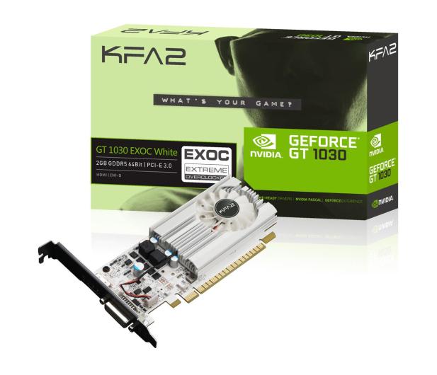 KFA2 GeForce GT 1030 EX OC White 2GB GDDR5 - 492959 - zdjęcie