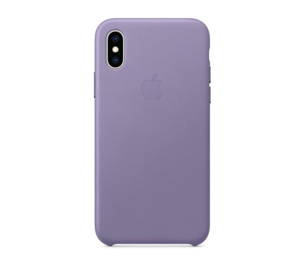Apple iPhone XS Leather Case liliowe - 493022 - zdjęcie