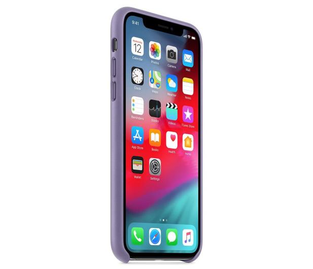 Apple iPhone XS Leather Case liliowe - 493022 - zdjęcie 3