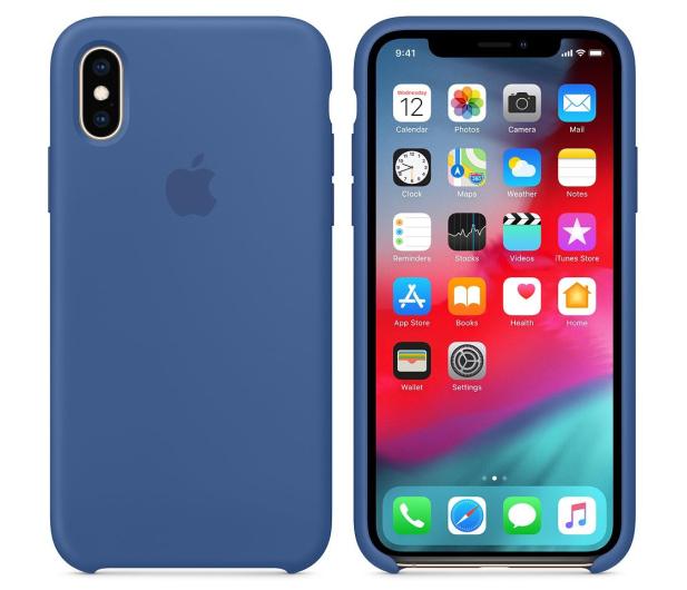 Apple iPhone XS Silicone błękitne - 493021 - zdjęcie 2