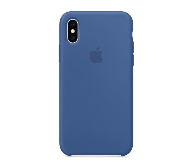 Apple iPhone XS Silicone błękitne - 493021 - zdjęcie