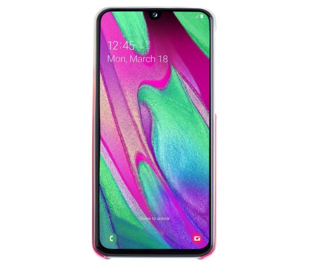 Samsung Gradation cover do Galaxy A40 różowy - 493080 - zdjęcie 3