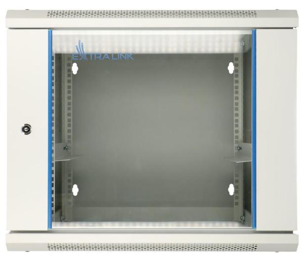 """ExtraLink Wisząca 19"""" 12U 600x600mm dwusekcyjna (szara)  - 489410 - zdjęcie 2"""