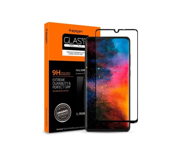 Spigen Szkło GLAS.TR Slim FC do Huawei P30 Black - 489426 - zdjęcie