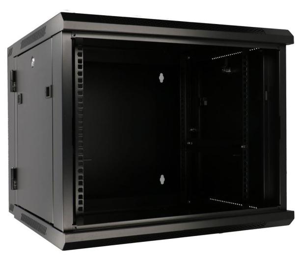 """ExtraLink Wisząca 19"""" 9U 600x600mm dwusekcyjna (czarna)  - 489357 - zdjęcie 5"""