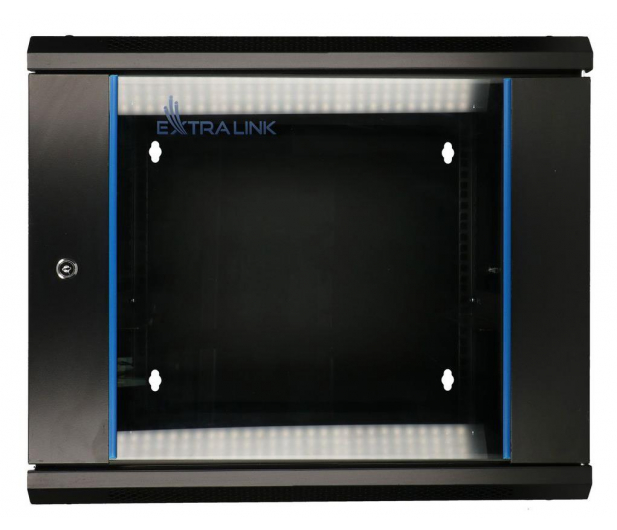 """ExtraLink Wisząca 19"""" 9U 600x600mm dwusekcyjna (czarna)  - 489357 - zdjęcie 2"""