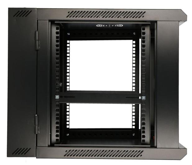 """ExtraLink Wisząca 19"""" 9U 600x600mm dwusekcyjna (czarna)  - 489357 - zdjęcie 6"""