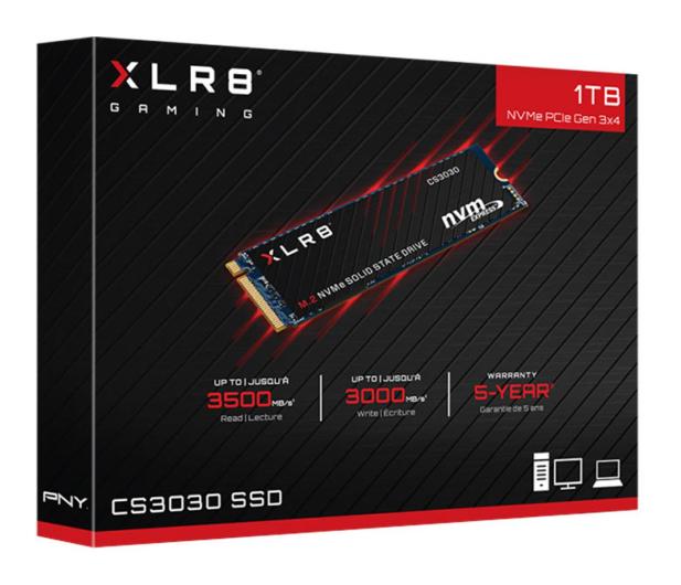 PNY 1TB M.2 PCIe NVMe XLR8 CS3030  - 490092 - zdjęcie 3