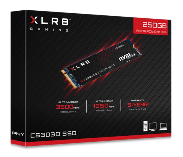 PNY 250GB M.2 PCIe NVMe XLR8 CS3030 - 490089 - zdjęcie 3