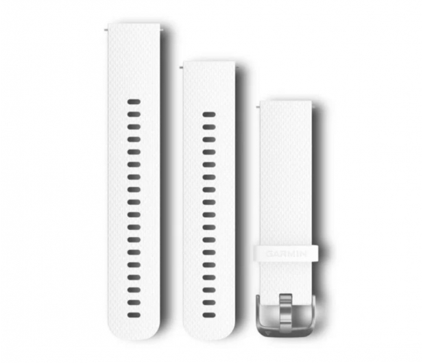 Garmin Pasek silikonowy biało-srebrny do koperty 20mm - 490335 - zdjęcie