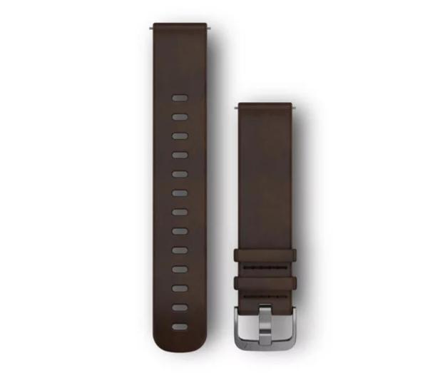 Garmin Pasek skórzany ciemno-brązowy do koperty 20mm - 490353 - zdjęcie
