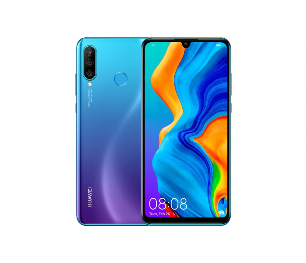 Huawei P30 Lite 128GB Niebieski + FreeBuds Lite białe  - 513706 - zdjęcie 2
