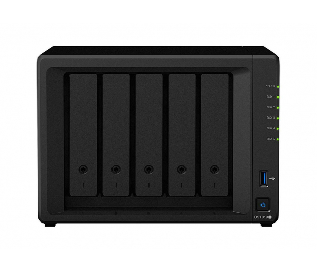 Synology DS1019+ (5xHDD, 4x1.5-2.3GHz, 8GB, 2xUSB, 2xLAN) - 490566 - zdjęcie 2