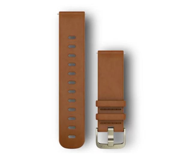 Garmin Pasek skórzany jasnobrązowy do koperty 20mm - 490354 - zdjęcie