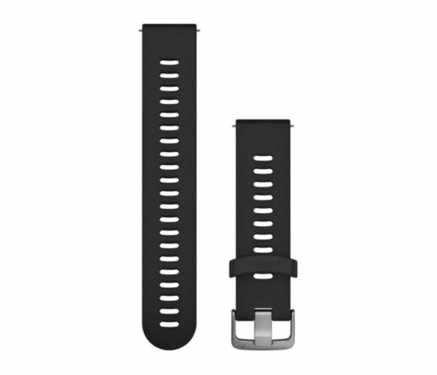 Garmin Pasek silikonowy czarno-srebrny do koperty 20mm - 490348 - zdjęcie