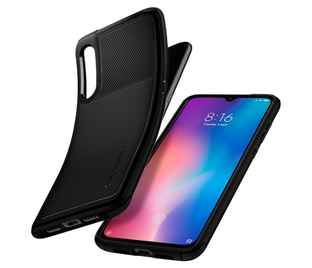 Spigen Rugged Armor do Xiaomi Mi 9 Black - 490493 - zdjęcie 2