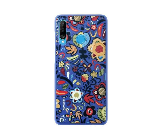 Huawei Plecki Dekoracyjne do Huawei P30 Lite Flower Blue - 484514 - zdjęcie 2