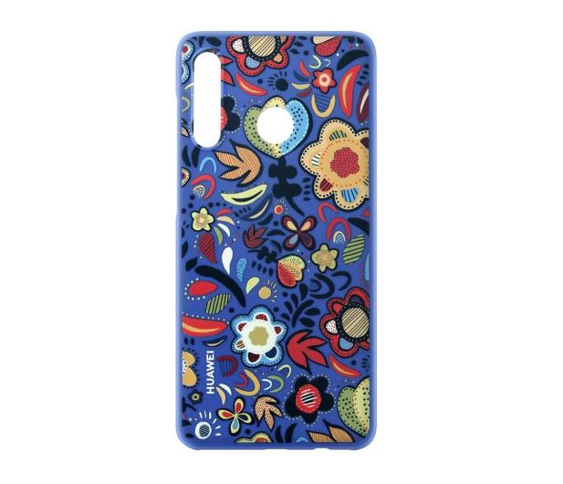Huawei Plecki Dekoracyjne do Huawei P30 Lite Flower Blue - 484514 - zdjęcie