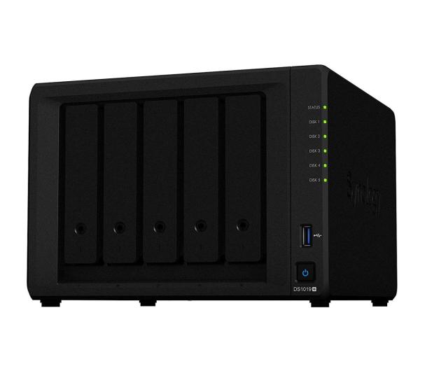 Synology DS1019+ (5xHDD, 4x1.5-2.3GHz, 8GB, 2xUSB, 2xLAN) - 490566 - zdjęcie