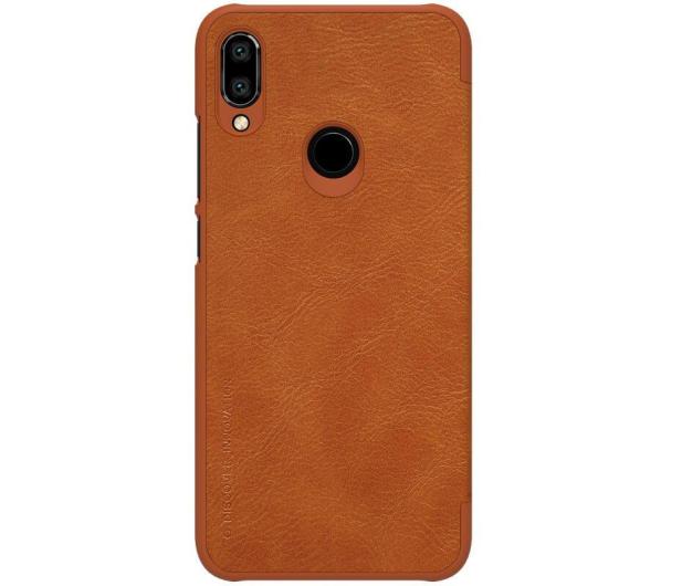 Nillkin Etui Skórzane Qin do Xiaomi Redmi Note 7 brązowy - 495705 - zdjęcie 2