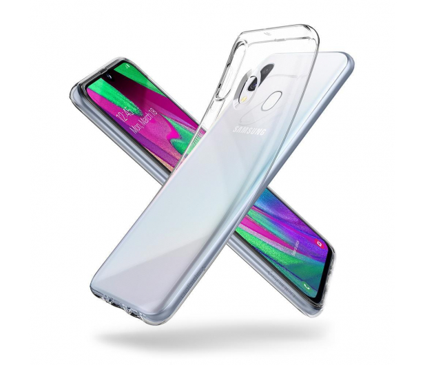 Spigen Liquid Crystal do Samsung Galaxy A40 Clear  - 495696 - zdjęcie 2