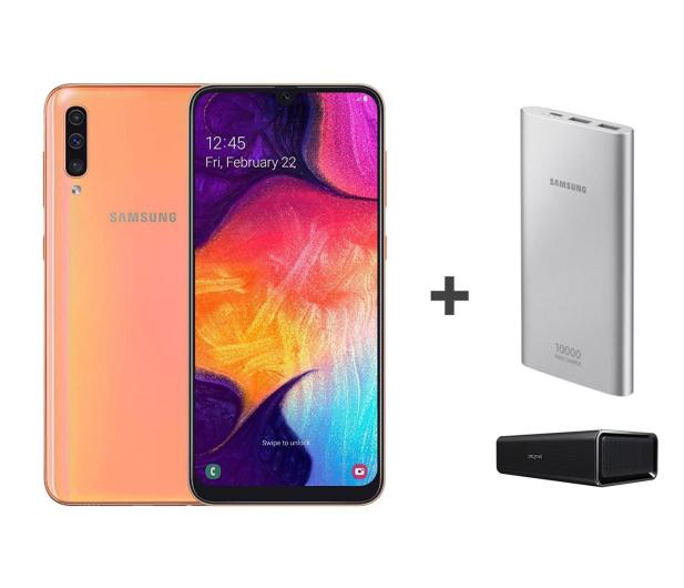 Samsung Galaxy A50 Coral +Creative Roar+PowerBank10000mAh  - 496722 - zdjęcie