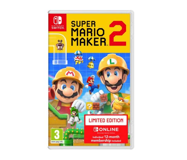 Nintendo Super Mario Maker 2 Edycja Limitowana NSO 12M - 496807 - zdjęcie