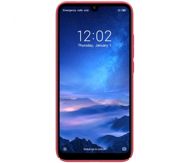 Nillkin Super Frosted Shield do Xiaomi Redmi 7 czerwony - 497150 - zdjęcie 2