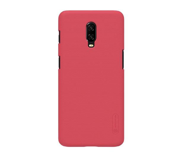 Nillkin Super Frosted Shield do OnePlus 6T czerwony - 497117 - zdjęcie