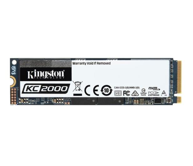 Kingston 500GB M.2 2280 KC2000 NVMe PCIe - 497350 - zdjęcie
