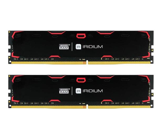 GOODRAM 8GB 2400MHz IRIDIUM Black CL15 (2x4GB) - 361600 - zdjęcie