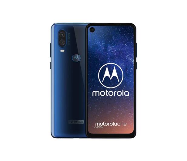 Motorola One Vision 4/128GB Dual SIM niebieski + etui - 496794 - zdjęcie