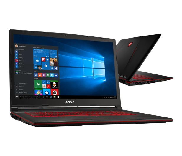 MSI GL73 i7-8750H/16GB/480+1TB/Win10X GTX1650  - 498599 - zdjęcie