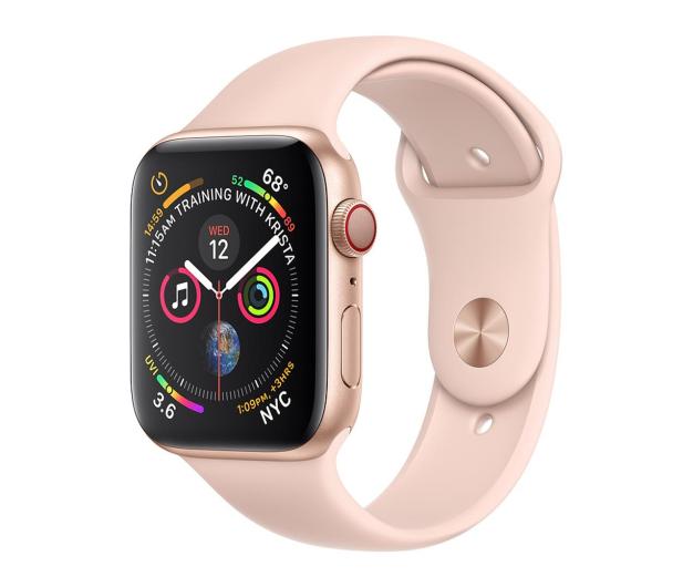 Apple Watch 4 44/Gold Aluminium/Pink Sport LTE - 491835 - zdjęcie