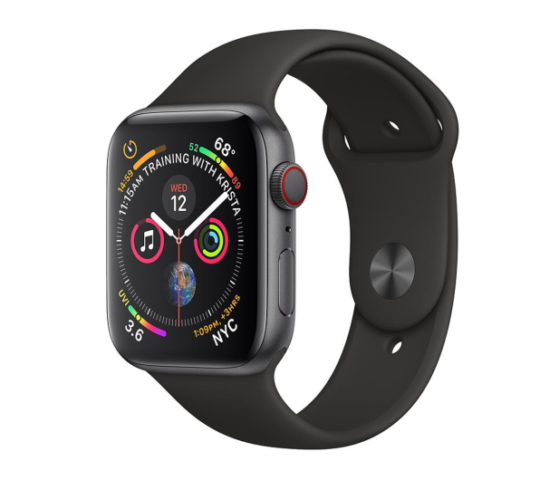 Apple Watch 4 44/Space Gray Aluminium/Black Sport LTE - 491839 - zdjęcie