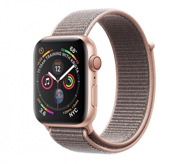 Apple Watch 4 40/Gold Aluminium/Pink Sport Loop LTE - 491812 - zdjęcie