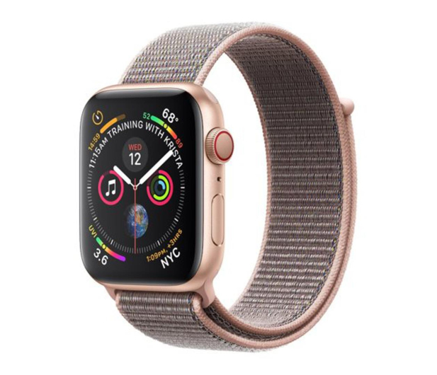 Apple Watch 4 44/Gold Aluminium/Pink Sport Loop LTE - 491834 - zdjęcie