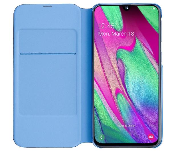 Samsung Wallet Cover do Galaxy A40 czarny - 493076 - zdjęcie 4
