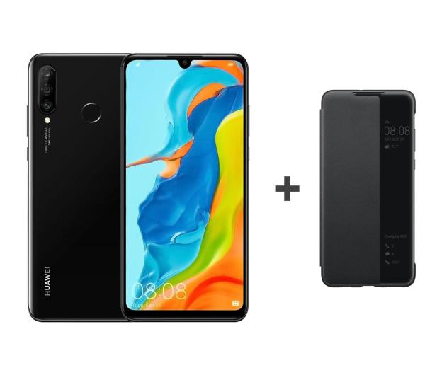 Huawei P30 Lite 128GB Czarny + View Cover do P30 Lite - 503909 - zdjęcie