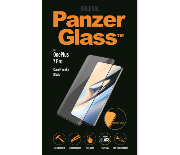 PanzerGlass Szkło Edge Casefriendly do OnePlus 7 Pro Black - 496428 - zdjęcie