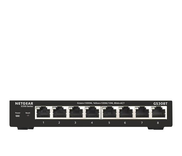 Netgear 8p GS308T-100PES (8x10/100/1000Mbit)  - 496580 - zdjęcie