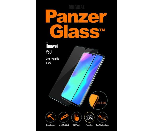 PanzerGlass Szkło Edge Casefriendly do Huawei P30 Black  - 498361 - zdjęcie