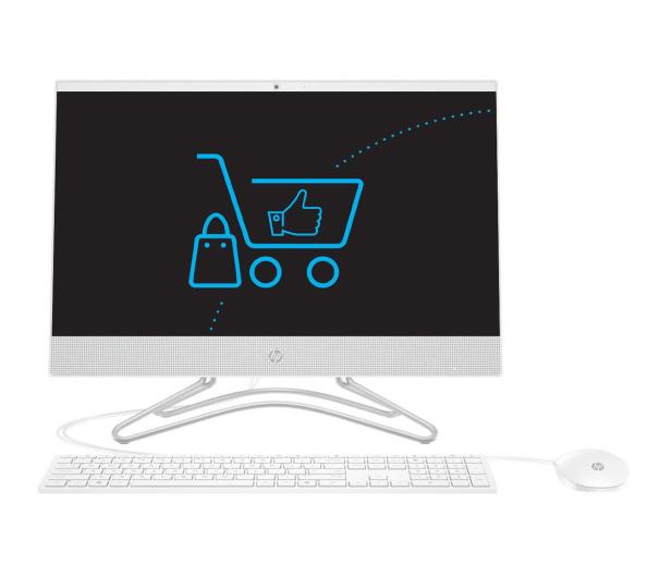 HP 24 AiO A9-9425/4GB/240 IPS White - 501956 - zdjęcie