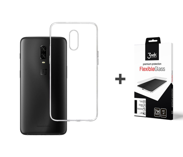3mk Zestaw Clear Case + Flexible Glass do OnePlus 6t - 500053 - zdjęcie