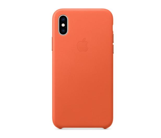 Apple iPhone XS Leather Case oranż - 506274 - zdjęcie