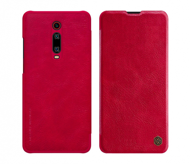 Nillkin Etui Skórzane Qin do Xiaomi Mi 9T/Mi 9T Pro Red - 506491 - zdjęcie