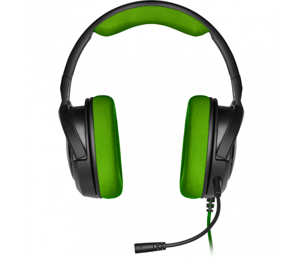 Corsair HS35 Stereo Gaming Headset (zielony)  - 504083 - zdjęcie 2