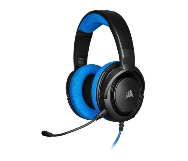 Corsair HS35 Stereo Gaming Headset (niebieski)  - 504081 - zdjęcie