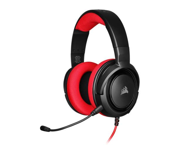 Corsair HS35 Stereo Gaming Headset (czerwony)  - 504084 - zdjęcie